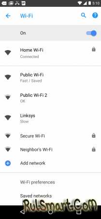 Android 8.1 покажет скорость открытых Wi-Fi-сетей без подключения к ним