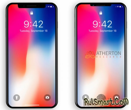 iPhone X 2018: первые рендеры смартфона и Touch ID в экране