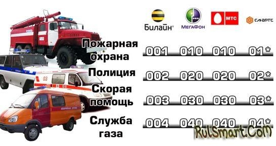 Как вызвать пожарных по мобильному телефону (для всех операторов)