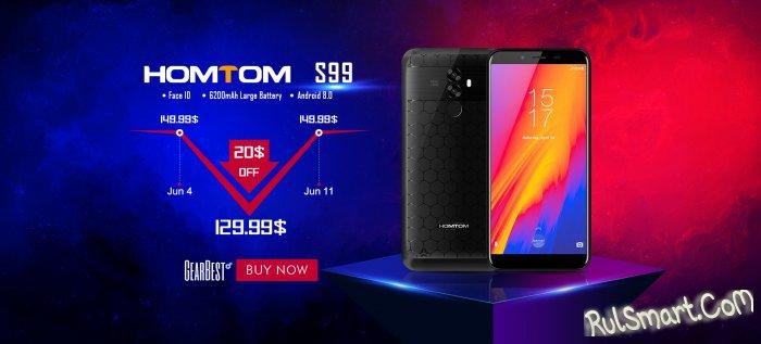 HOMTOM S99 на Android 8.0 Oreo продается в GearBest за $129