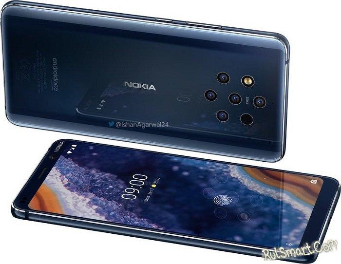 Nokia 9 PureView: 5-камерный смартфон с истерическим дизайном