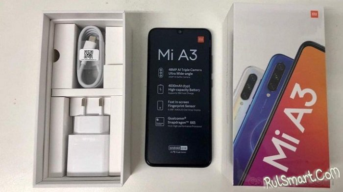Xiaomi Mi A3: первые живые фото и характеристики смартфона