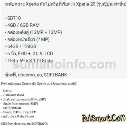 Sony Xperia 20: недорогой, но хороший смартфон со странностями