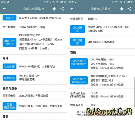 Honor 9X и Honor 9X Pro: характеристики поразили фанатов