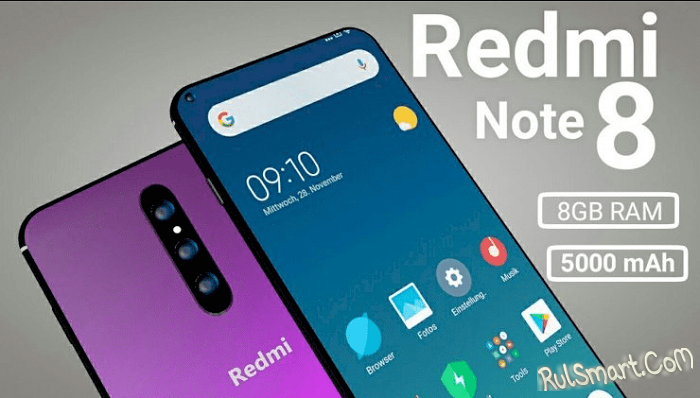 Xiaomi Redmi Note 8 ошарашил фанатов дизайном и характеристиками