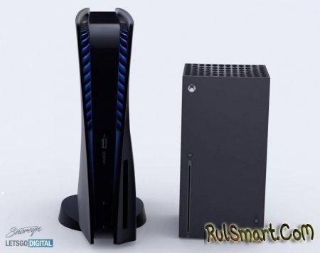 Как выглядит чёрная Sony PlayStation 5 в сравнении с Xbox Series X