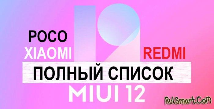 Какие смартфоны Xiaomi, Redmi, Poco получили и точно получат MIUI 12