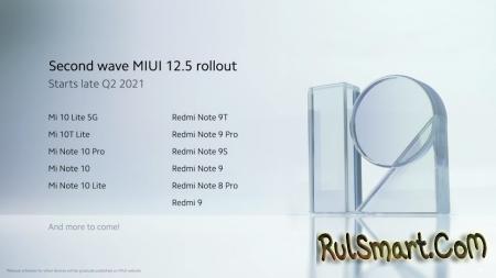 Какие 18 смартфонов Xiaomi обновит первыми до MIUI 12.5?