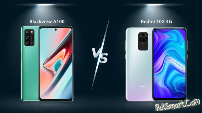 Blackview A100 и Redmi 10X: уничижительное сравнение дешевых смартфонов
